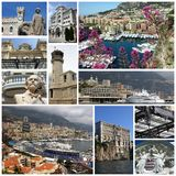 Monte - carlo, Monaco, collage Royaltyfria Bilder