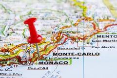 Monte Carlo, Monaco - Finanzparadies Stockbild