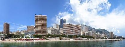 Monte Carlo, Monaco, het panorama van de stadshorizon Royalty-vrije Stock Afbeelding