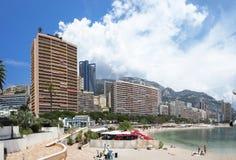 Monte Carlo, Monaco, het panorama van de stadshorizon Royalty-vrije Stock Foto