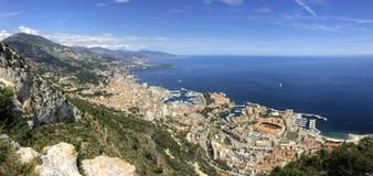 Monte Carlo, Monaco, het panorama van de stadshorizon Stock Foto's