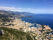Monte Carlo, Monaco, het panorama van de stadshorizon Stock Afbeelding