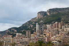 Monte Carlo, Monaco and the hills Royalty Free Stock Photos