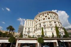 Monte-Carlo, Monaco, 25.09.2008: Hotel de Paris. Hotel de Paris, square, balcony, clear sky, sunny day, palms Stock Image