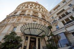 Monte - carlo, Monaco, 25 09 2008: Hotell de Paris Royaltyfri Bild