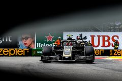 Kevin Magnussen exiting the pool chicane