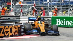 #4 Lando NORRIS GBR, McLaren-Renault, MCL34 royalty free stock images