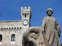 Monte - carlo, Monaco, slott Arkivbilder