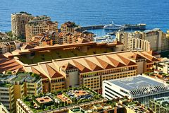 monte - carlo, Monaco, stad, fotboll, stadion Fotografering för Bildbyråer