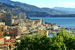 Monte Carlo, Monaco, ville, le football, stade Photos stock