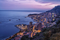 Monte Carlo By Night Stock Photography