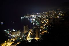 Monte Carlo night scene Stock Images