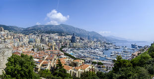 Monte Carlo Panorama Stockfotos