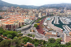 Monte Carlo panorama Royalty Free Stock Photography