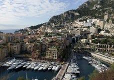 Monte, Carlo panoramiczny widok - fotografia stock