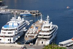 Monte-Carlo, passenger ship, marina, luxury yacht, water transportation. Monte-Carlo is passenger ship, water transportation and watercraft. That marvel has royalty free stock images