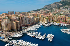 Monte Carlo port Royalty Free Stock Images