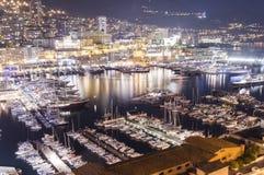Monte - carlo port royaltyfri fotografi
