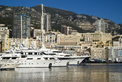 Monte Carlo and the Port Hercules Royalty Free Stock Photography