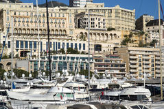 Monte Carlo and the Port Hercules Stock Photos