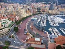 Monte Carlo - Porto e lungomare Royalty-vrije Stock Afbeelding