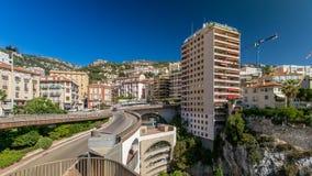 Monte Carlo Railway Station Gare de Monaco timelapse, Principality of Monaco. Monte Carlo Railway Station Gare de Monaco timelapse with traffic on the road and stock footage