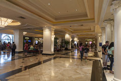 Monte Carlo Registrations-Bereich in Las Vegas, Nanovolt am 6. August, 201 Stockbild