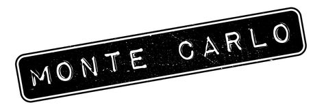 Monte Carlo rubber stamp Royalty Free Stock Photos