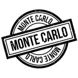 Monte Carlo rubber stamp Royalty Free Stock Images