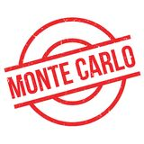 Monte Carlo rubber stamp Stock Photography