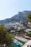 Monte, Carlo schronienie z pejzażem miejskim - Obraz Royalty Free