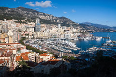 Monte carlo Skyline in French Riviera Stock Photos