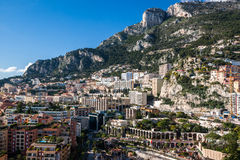 Monte Carlo skyline, French Riviera. Monte Carlo officially refers to an administrative area of the Principality of Monaco, specifically the ward of Monte Stock Photo