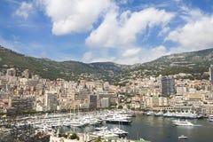Monte Carlo stadsegenskap Monaco franska riviera Arkivfoto