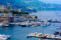 Monte Carlo Stadtpanorama. Lizenzfreies Stockfoto