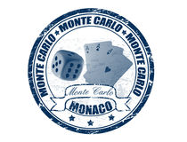 Monte Carlo stamp Stock Image