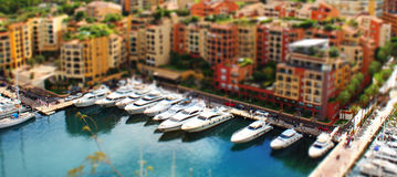 Monte carlo tilt shift image Stock Photography
