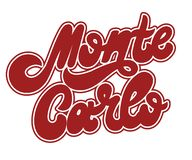 Monte Carlo. Vector hand drawnlettering isolated on white background . Template for card, tattoo, poster, banner, print for t-shirt, pin, badge, patch stock illustration