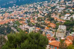 Monaco, Monte Carlo Panoramic view of the city Royalty Free Stock Image