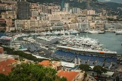 Monaco, Monte Carlo Panoramic view of the city Royalty Free Stock Photo