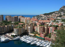 Monte-Carlo view, Monaco. This is the Monte-Carlo landscape, Monaco Royalty Free Stock Images