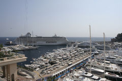 Monte Carlo Yacht show stock images