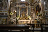 Monte Cassino. Altar at Abbey of Monte Cassino Royalty Free Stock Photo