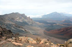 Vulcão de Haleakala em Maui Fotos de Stock Royalty Free