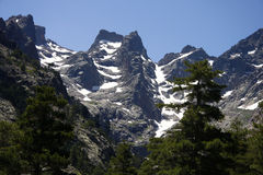 Monte Cinto. The tallest mountain of Corsica, France Royalty Free Stock Image