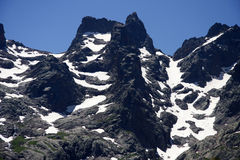 Monte Cinto. The tallest mountain of Corsica, France Royalty Free Stock Photography