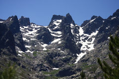 Monte Cinto. The tallest mountain of Corsica, France Stock Images