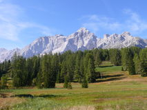 Monte Civetta. Sunny day in Dolomites mountains Italy Royalty Free Stock Photo
