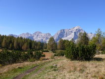 Monte Civetta. Sunny day in Dolomites mountains Italy Stock Image