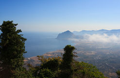 Monte Cofano, Erice Imágenes de archivo libres de regalías